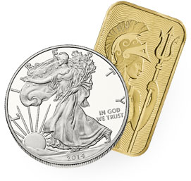 physical gold and silver bullion