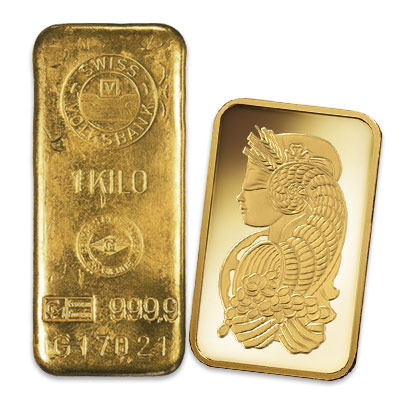 cast gold bar or minted