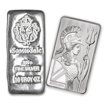 choose cast silver bars or minted bars