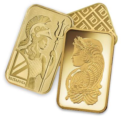 choice of gold bullion bars