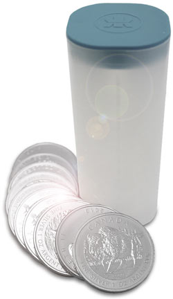 silver bullion coin tube