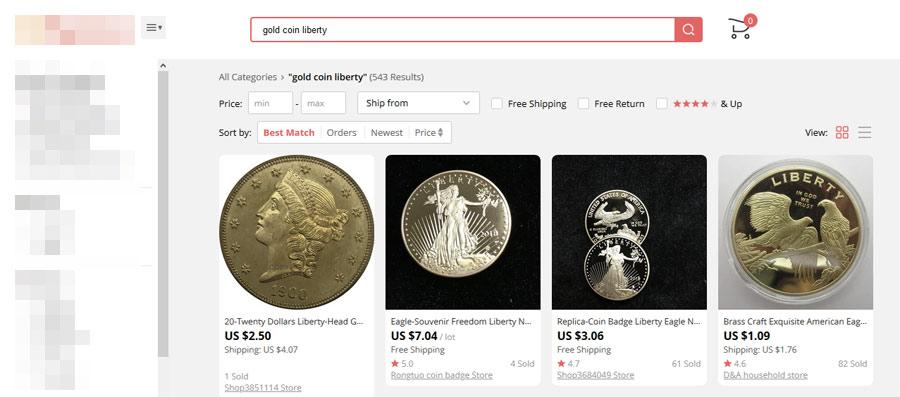 fake gold bullion coins online