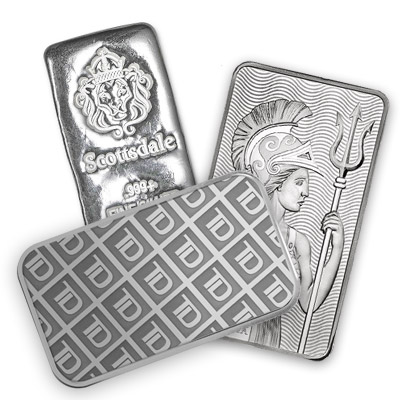 differet prices for silver bullion bars
